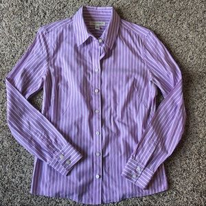 Nwot banana republic non iron fitted striped top